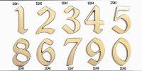"C125 Číslice 125mm bronz ""0"" 62"