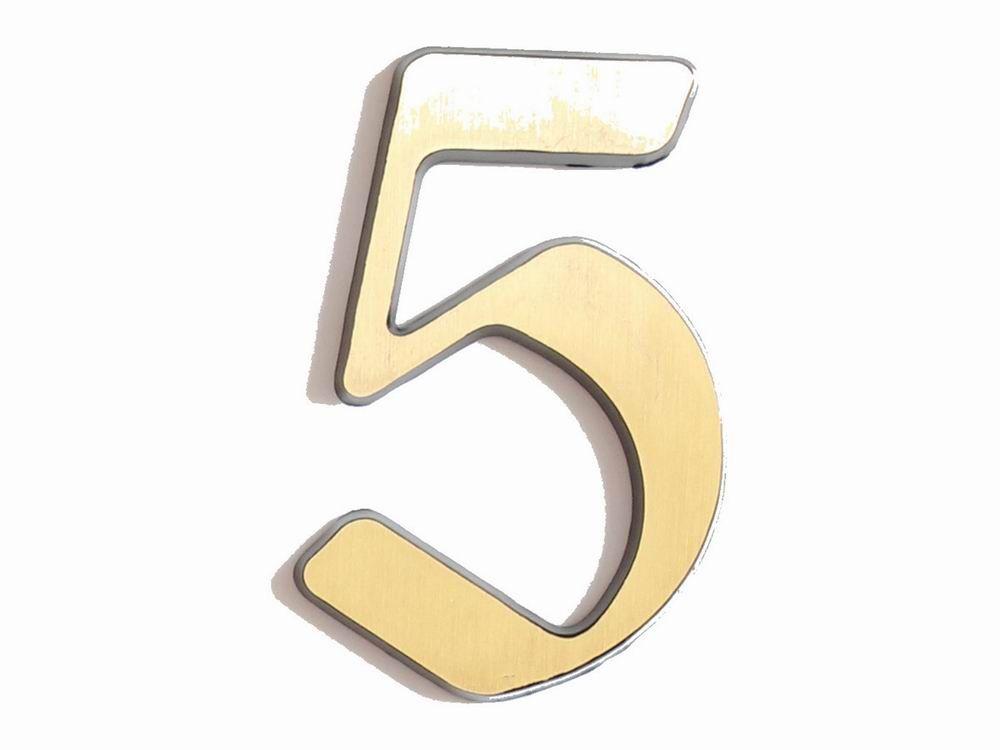 "C125 Číslice 125mm bronz ""5"" 62"