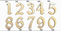 "C125 Číslice 125mm bronz ""8"" 62"