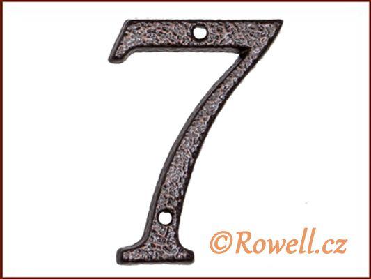 C1 Číslice 80mm k.měď '7' rowell