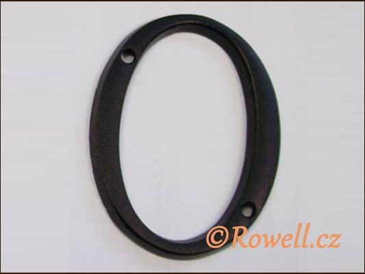 C1 Číslice 80mm černá '0' rowell