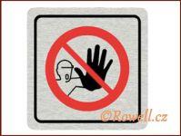 CPP  'Zákaz-nevstupovat'/nerez