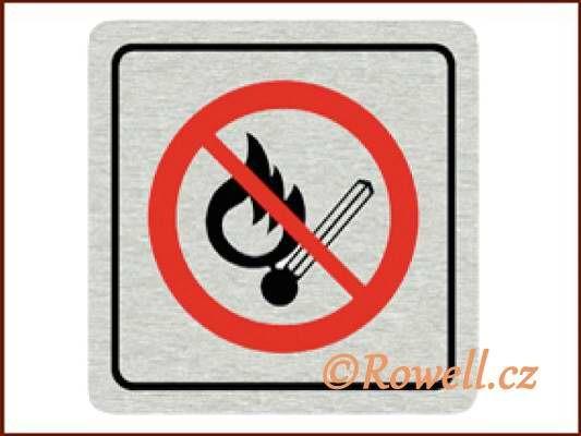 CPP 'Zákaz oheň ' /nerez/ rowell