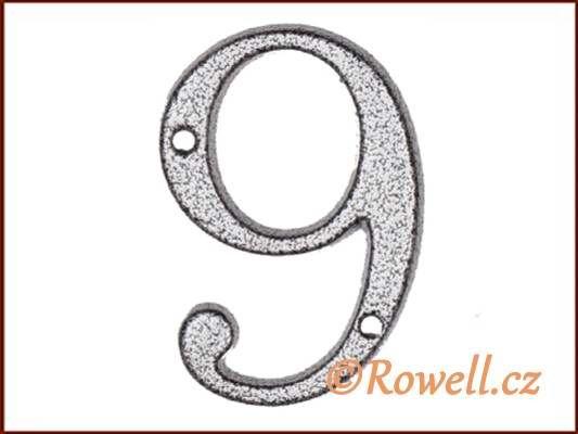 C1 Číslice 80mm k.stř. '9' rowell