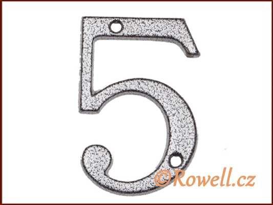 C1 Číslice 80mm k.stř. '5' rowell
