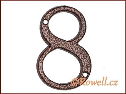 C1 Číslice 80mm k.bronz '8' rowell