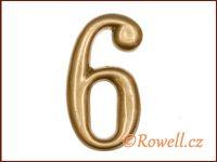 C2    Čísélko zlaté '6'