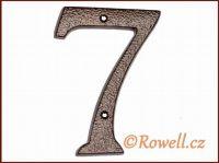 C4  Číslo 145mm kom.měď '7'