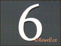 C5    Čísélko stříbro '6'