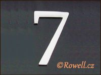 C5    Čísélko stříbro '7'