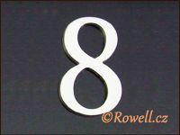 C5    Čísélko stříbro '8'