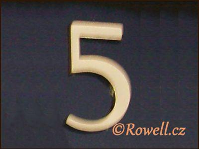C5 Čísélko zlaté '5' rowell