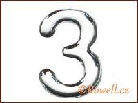 C37  Číslo 37mm stříbr. '3'