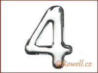 C37  Číslo 37mm stříbr. '4'