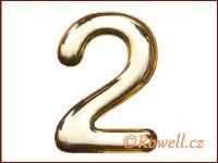 C37  Číslo 37mm zlatá '2'