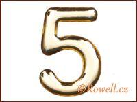 C37  Číslo 37mm zlatá '5'