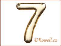 C37  Číslo 37mm zlatá '7'