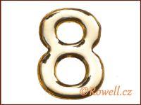 C37  Číslo 37mm zlatá '8'
