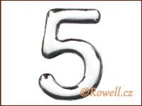 C53  Číslice 53mm stříb.'5'