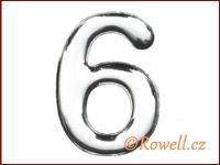 C53  Číslice 53mm stříb.'6'