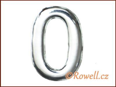 C53 Číslice 53mm stříb.'0' rowell