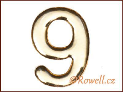 C37 Číslo 37mm zlatá '9' rowell