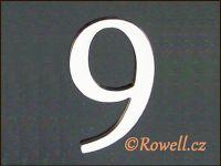 C5    Čísélko stříbro '9'