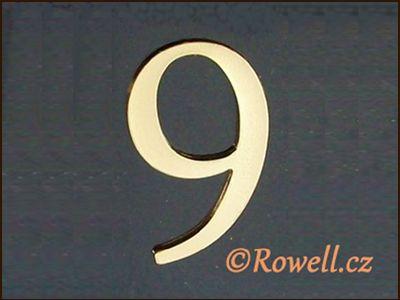 C5 Čísélko zlaté '9' rowell