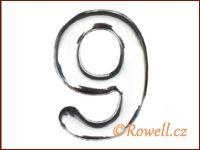 C53  Číslice 53mm stříb.'9'
