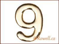 C53  Číslice 53mm zlatá '9'