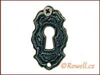SK6   Štítek klíč černý