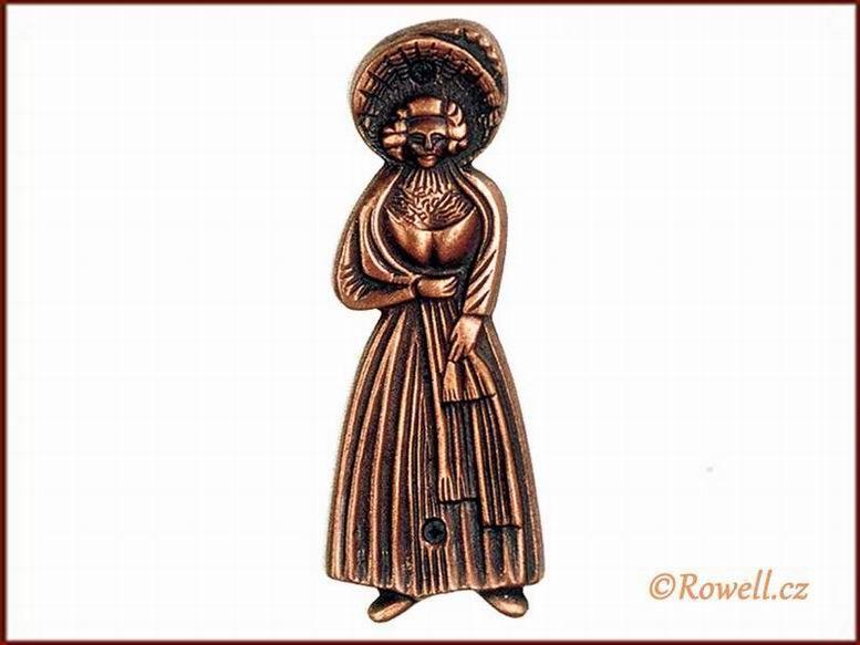 ST1 WC štítek dámy-staroměď rowell