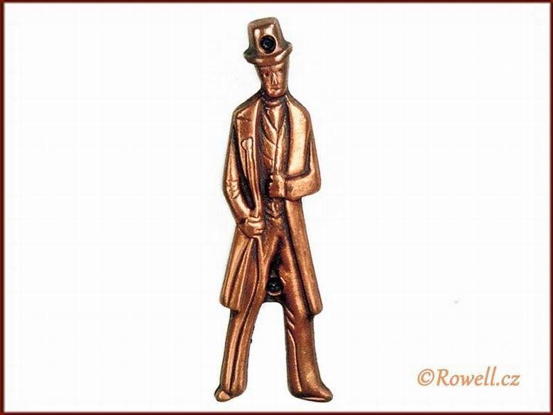 ST2 WC štítek muži-staroměď rowell