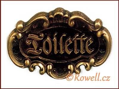 STT štítek TOILETTE-st.mosaz wc rowell