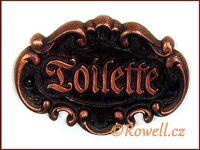 STT   štítek TOILETTE-staroměď