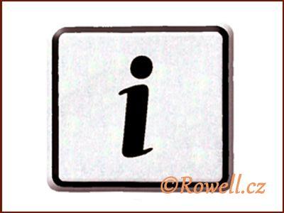 NO cedulka stříbr. 'Informace rowell