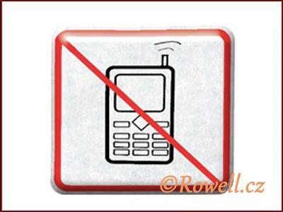 NZ 'Zákaz telefon' /stříbrná/ rowell