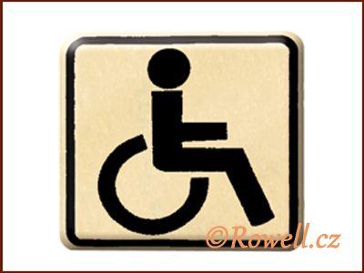 NO cedulka zlatá 'Invalida' rowell
