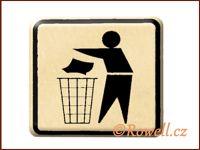 NO cedulka zlatá  'Odpadky' / DOPRODEJ