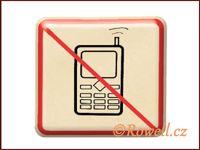 NZ 'Zákaz telefon' /zlatá/ / DOPRODEJ