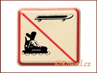 NZ 'Zákaz bruslí' /zlatá/ rowell