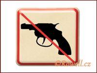 NZ 'Zákaz zbraň' /zlatá/ / DOPRODEJ