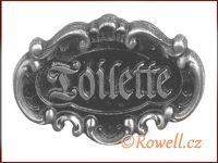 STT   štítek TOILETTE-starostříbro