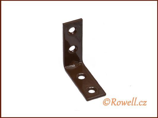 UH40 Úhelník 40 mm hnědý rowell
