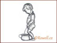 ST4v  WC panáček stříbrná