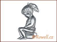 ST5   WC panenka stříbrná