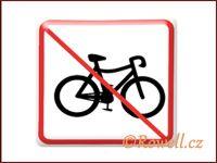 NZ 'Zákaz kolo' /bílá