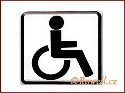 NO cedulka bílá 'Invalida' rowell