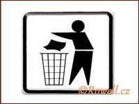NO cedulka bílá  'Odpadky'