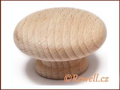 KD55 knopka dřevo-přírodní rowell